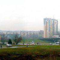 panorama w panoramio,Mielec ,widok z kładki kolejowej., Мелец