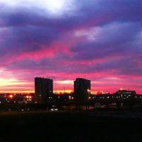 panorama świtu w mieście, Мелец