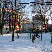 moje miasto widziane oczami dziecka z placu zabaw przy przedszkolu na ul.P.Skargi, Мелец