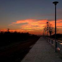 rzeka Wisłoka,promenada, Мелец