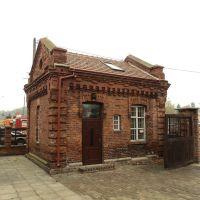 stary budynek na dworcu, Ломжа