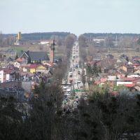 Lomza from the air, Wojska polskiego street, 2012, Ломжа