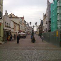 główny deptak przy ul Sobieskiego prowadzący w stronę Ratusza, Вейхерово