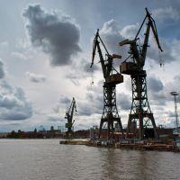 Gdańsk - dźwigi portowe, Гданьск