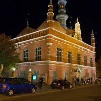 Gdańsk nocą, Гданьск