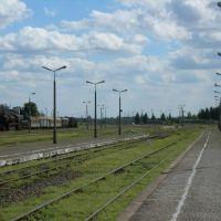 Kościerzyna. Widok ze stacji w stronę Czerska, Косцержина