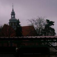 wieża kościoła  od strony targu/ tower of church, Косцержина