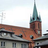 dach i wieża kościoła, Косцержина