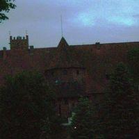 Malbork - zamek krzyżacki nocą, Мальборк