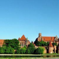 """Malbork - zamek pokrzyżacki nad Nogatem i pilnujące oko """"Wielkiego Brata"""" :))), Мальборк"""