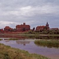 Blick auf Marienburg, Мальборк