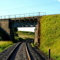 Wiadukt na linii kolejowej 211, nad linią 201, Румия