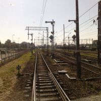 Słupsk - Wjazd na Dworzec od strony Lębork, Слупск