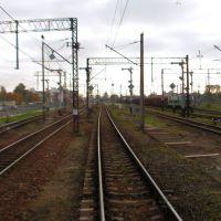 Wjazd na dworzec w Słupsku, Слупск