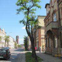 Tczew (near Gdańsk) ul. Sobieskiego po prawej byłe Gimnazjum Mechaniczne, Тчев