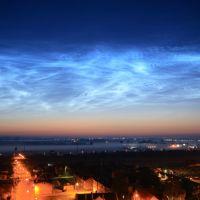 Obłoki srebrzyste / noctilucent clouds 13.07.2009, Тчев