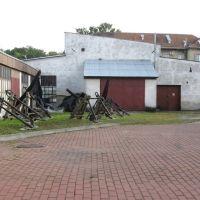 Tczew - dziedziniec Muzeum Dolnej Wisły, Тчев