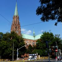 Bytom - Widok kościoła p.w. Świętej Trójcy, Бытом