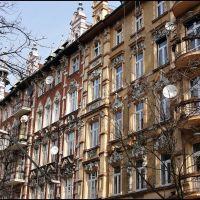 GLIWICE. Zabytkowe kamienice przy ul.Prymasa Wyszyńskiego/The historic buildings in Prymas Wyszynski street, Гливице