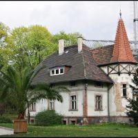 GLIWICE. Park Chopina. Domek Ogrodnika (przed wojną: Städtische Garten Inspektion) /Chopin Park. Gardeners Cottage (before the war: Städtische Garten Inspektion), Гливице