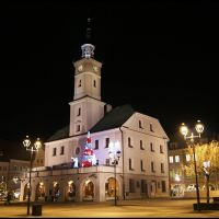 GLIWICE. Ratusz nocą/City Hall by night, Гливице