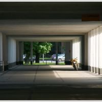 GLIWICE. Podcienia Wydziału Górniczego Politechniki Śląskiej/The arcades of the Mining Faculty of the Silesian Technical University., Гливице