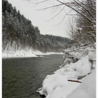 zima nad Sołą/winter by the river Sola, Живец