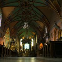 Żywiec, wnętrze Konkatedry p.w. Narodzenia Najświętszej Maryi Panny, Живец