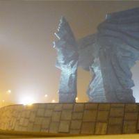 pomnik we mgle, Катовице