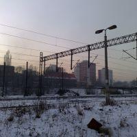 Mysłowice Dworzec PKP - widok na Rymerę, Мысловице