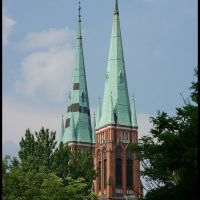 RYBNIK. Wieże bazyliki/Towers of the basilica, Рыбник