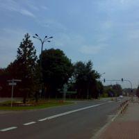 Rozwidlenie ul. Niepodległości, ul. Bolesława Prusa, Czechowice-Dziedzice, Цеховице-Дзедзице