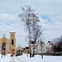 Ostra Brama zimą, Скаржиско-Каменна