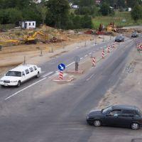 Bernatka - historyczne pojazdy i skrzyżowanie na E-7., Скаржиско-Каменна