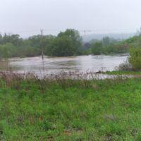 Rozlewisko rz. Kamiennej na Brzasku- TSK powódź, Скаржиско-Каменна