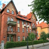 Giżycko (Lėcius) - Prussian houses in Pionierska street, Гижичко