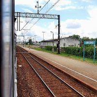 widok z okna wagonu kolejowego... stacja Działdowo, Дзялдово