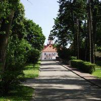 Iława - w oddali wieża ratusza, Илава