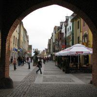 Olsztyn, Pedestrian Area, View from City Gate, Ольштын