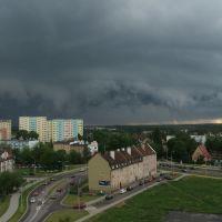 Olsztyn - District Podgrodzie - Dark clouds, Ольштын
