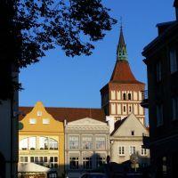 Stary Rynek w Olsztynie - widok od strony Zamku, Ольштын