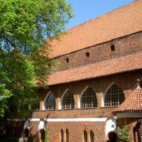 na dziedzińcu zamku w Olsztynie, Ольштын