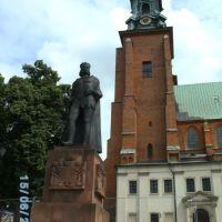 Gnesener Kathedrale mit König Boleslaw-Denkmal, Гнезно