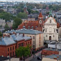 widok z wieży katedralnej w Gnieźnie, Гнезно