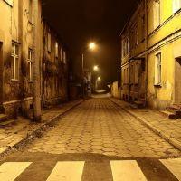 Koło w nocy - ul. Pułaskiego Koło by night - Pułaskiego street, Коло