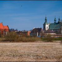 Koło-widok na Stare Miasto-fara i klasztor bernardynów-gb-12, Коло