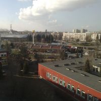 Widok ze szpitala na Rondo Karykowskiego, Конин