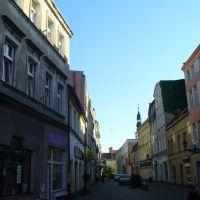prowadząca do Ratusza ulica Wolności, Лешно