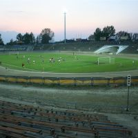 Leszno, Speedway Stadium during football match, Лешно