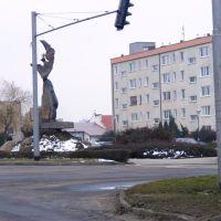 Leszno.Widok pomnika Konstytucji Niepodległości, Лешно